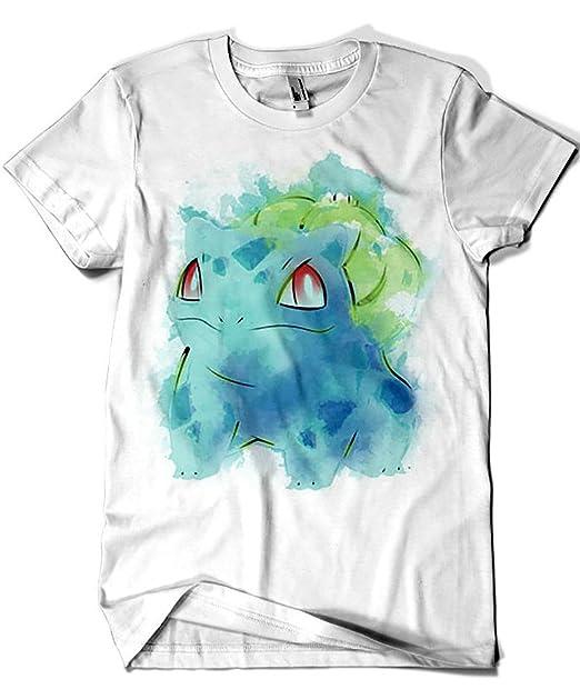 Camisetas La Colmena 4534-Camiseta Premium, Grass Poison Watercolor (Ddjvigo): Amazon.es: Ropa y accesorios