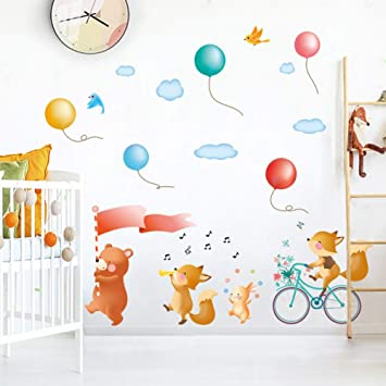 amazon com tzbglmqh cartoon animals sightseeing wall stickers for