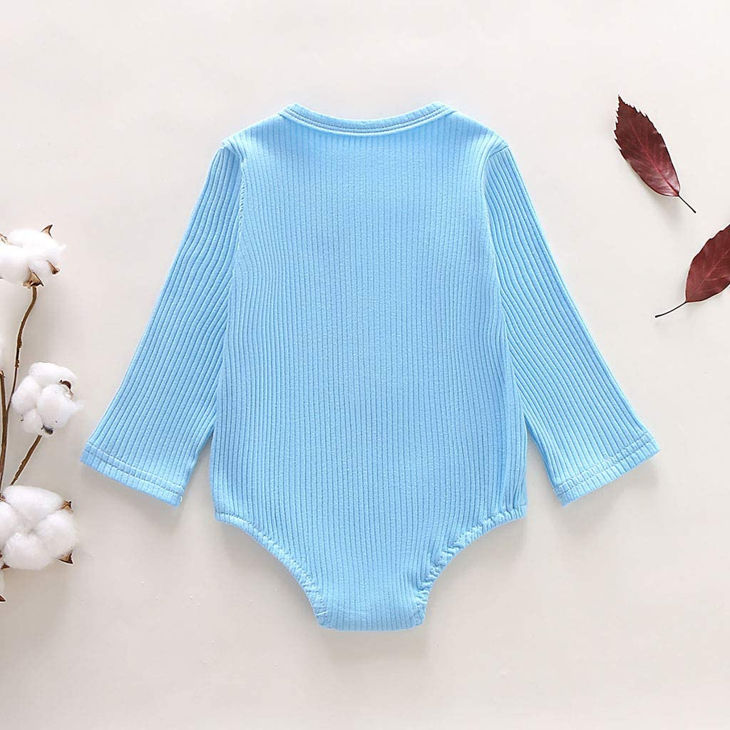 Cute Newborn Baby Boys Girls Long Sleeve Bodysuit Romper Jumpsuit Outfit Clothes