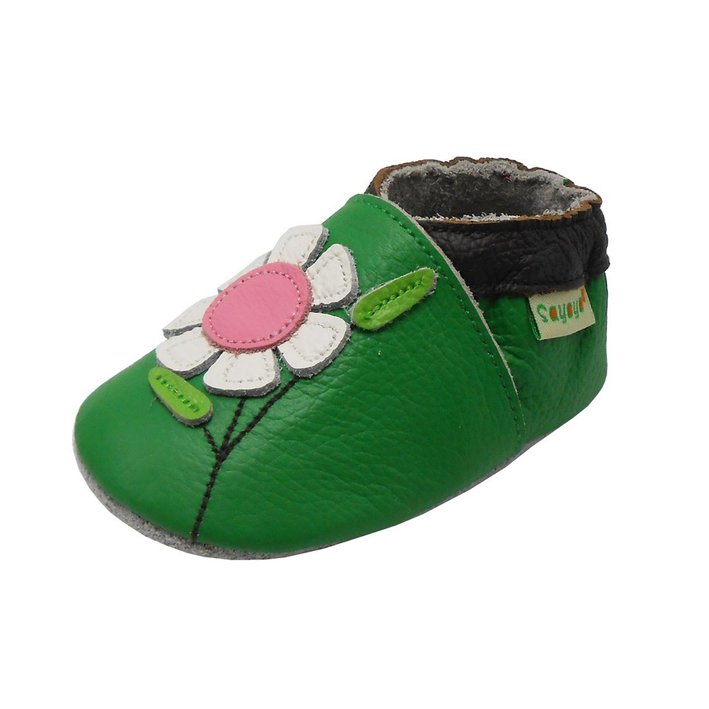 Sayoyo Baby Flowers Soft Sole Leather Infant And Toddler Shoes Bai Shu 1018-$P