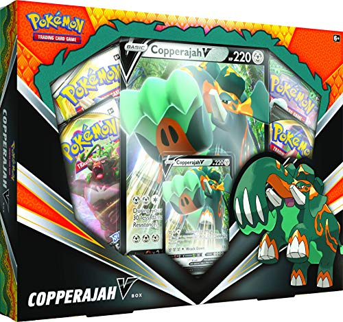 Pokemon TCG: Copperajah V Box | 1 Foil Cards | 4 Booster Packs | Genuine Cards