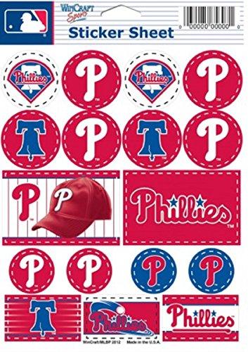 (Wincraft MLB Philadelphia Phillies Vinyl Sticker Sheet, 5
