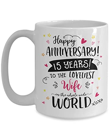 Amazon 15th Wedding Anniversary Gifts For Her Loveliest Wife