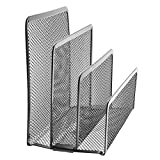 KathShop Mesh Letter Sorter Mail Document Tray Desk Office File Organiser Holder Good