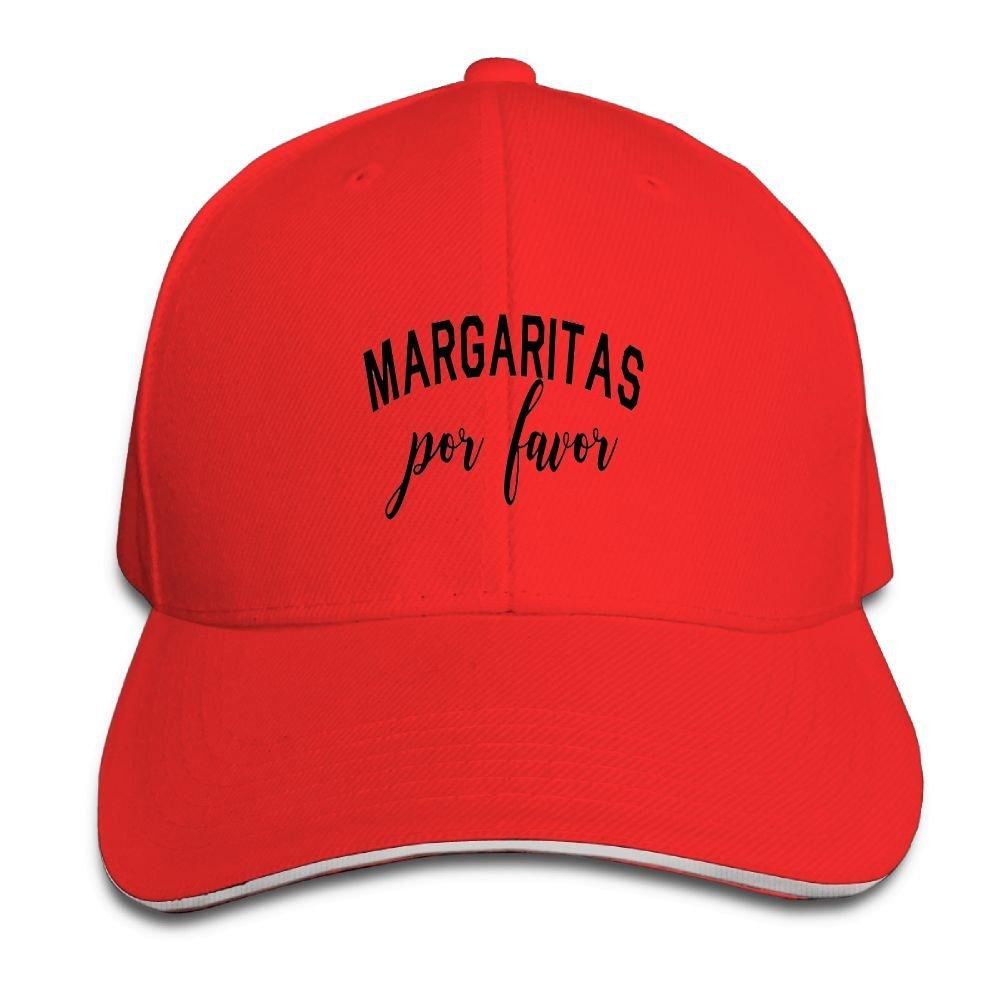 814f3981d6b Amazon.com  Margaritas Por Favor Running Unisex Peaked Cap Baseball Hat  Red  Clothing