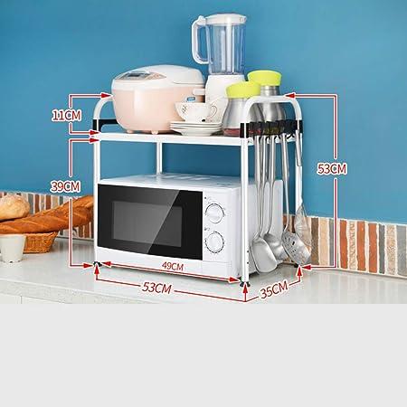 shelf Repisa de Cocina, Rejilla de Almacenamiento para microondas, Rejilla del Horno, repisa de condimento, B: Amazon.es: Hogar