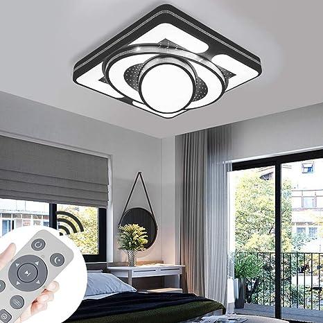 Lámpara de techo Lámpara LED de techo Lámpara de la sala de estar de 48W Luces de techo modernas Cocina Baño Pasillo Dormitorio (Negro, 48W regulable)