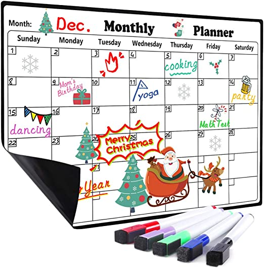 A4 Planner 5pens Daily Weekly Organiser Family Magnetic Fridge Whiteboard Notes