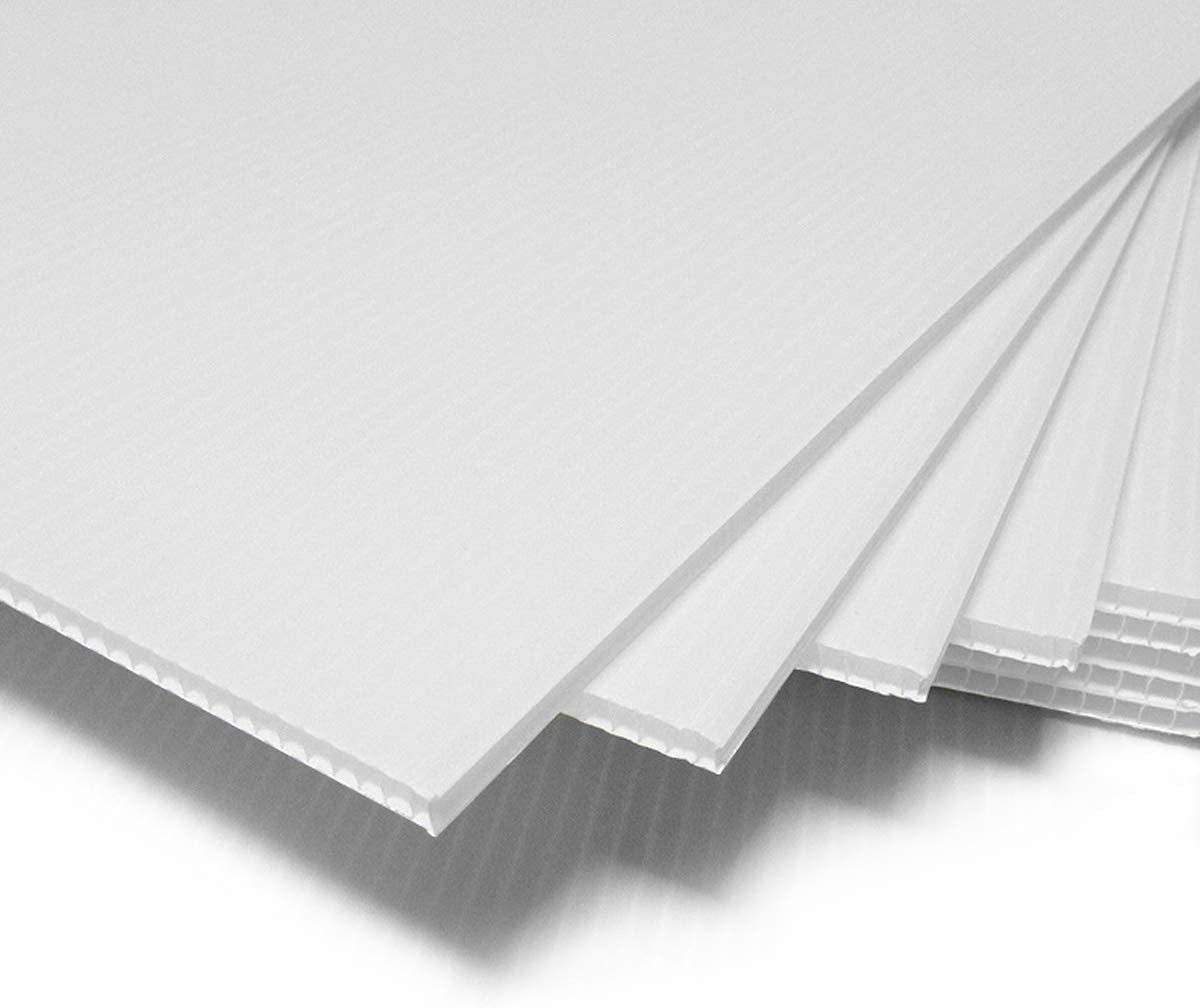 T-SIGN Corrugated Plastic Sheets Coroplast Sign Blank Board, 24 x36 Inches 3/16 Inches Thick for A-Frame Replacement Poster Sheets, 2 Pack White Blanks Sign : Office Products