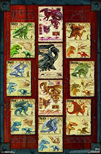 Dragon Art Poster - Trends International Dungeons Dragon Grid Wall Poster, 22.375