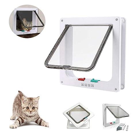 NAN-YAN - Tapa magnética para Gato, Control Inteligente para Puerta de Mascota con