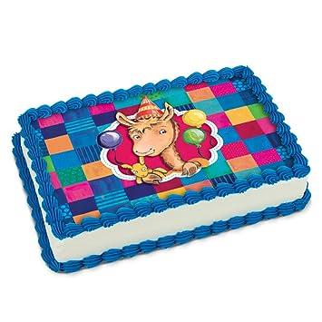 Llama Birthday Icing Sheet 1 4 Cake Size