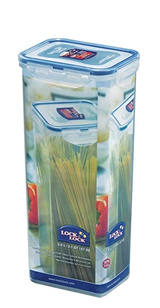 Attractive LOCK U0026 LOCK Airtight Rectangular Tall Food Storage Container, Pasta Box  67.63 Oz/