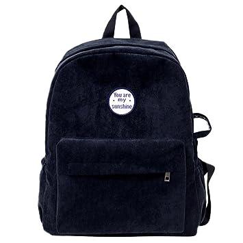❤️XINANTIME - Mochila de mujer Bolsos de hombro de pana para niñas Mochila de viaje