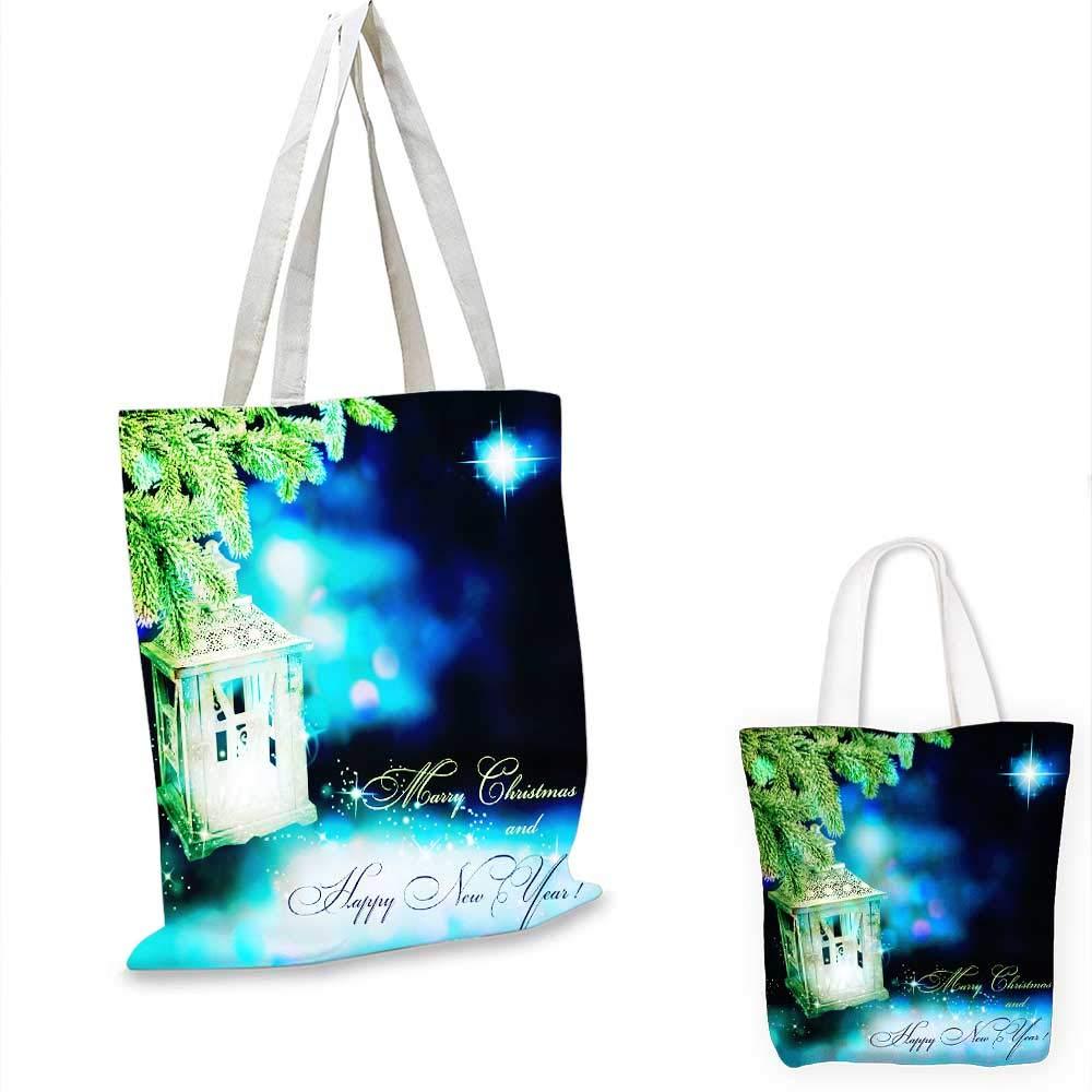 Christmas label canvas messenger bag canvas beach bag 16x18-13inch