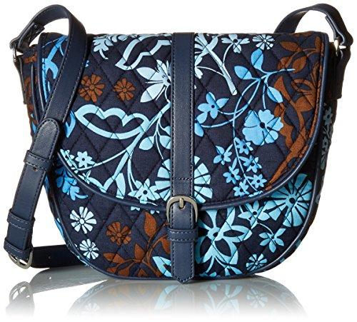 Vera Bradley Slim Saddle Bag, Java Floral ()