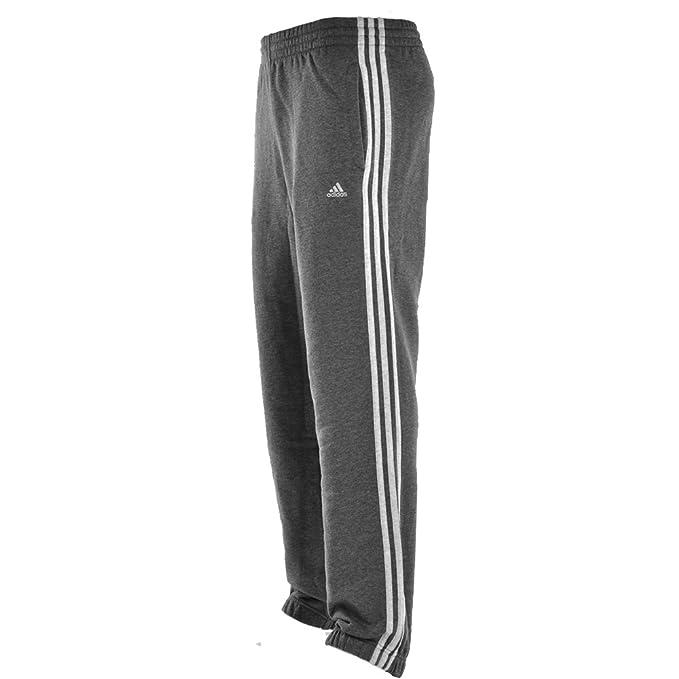 sprzedaje nowe tanie wysoka jakość Adidas 3 Stripe Fleece Sweat Pants/Bottoms/Trousers Charcoal ...