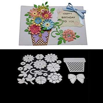 Plant Flower Frame Cutting Dies Stencil DIY Scrapbook Paper Card Embossing Craft