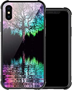 iPhone XR Case,Colorful Life Tree iPhone XR Cases for Women Girls,Anti-Slip Drop Protection with Soft TPU Bumper Pattern Design Case for Apple iPhone XR