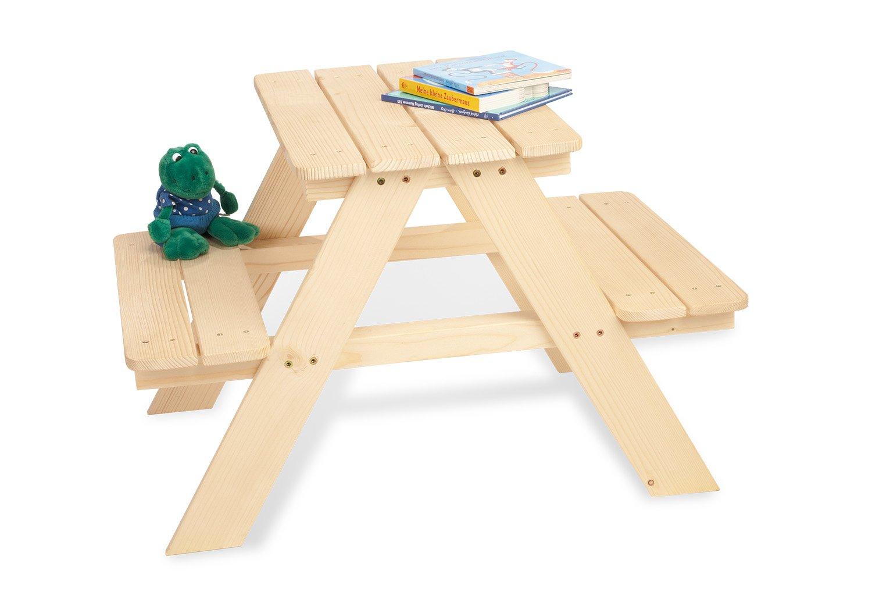 Pinolino 20 10 17 Nicki - Mesa de jardí n para niñ os (madera sin tratar) 201017