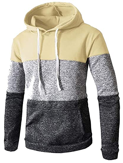 ee4a15ba Britainlotus Men Novelty Color Block Hoodies Cozy Sport Outwear Sweatshirt  at Amazon Men's Clothing store: