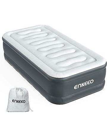 ENKEEO Colchón Hinchable con Bomba Eléctrica Incorporada, Resistente al Agua y al Desgarro, 190