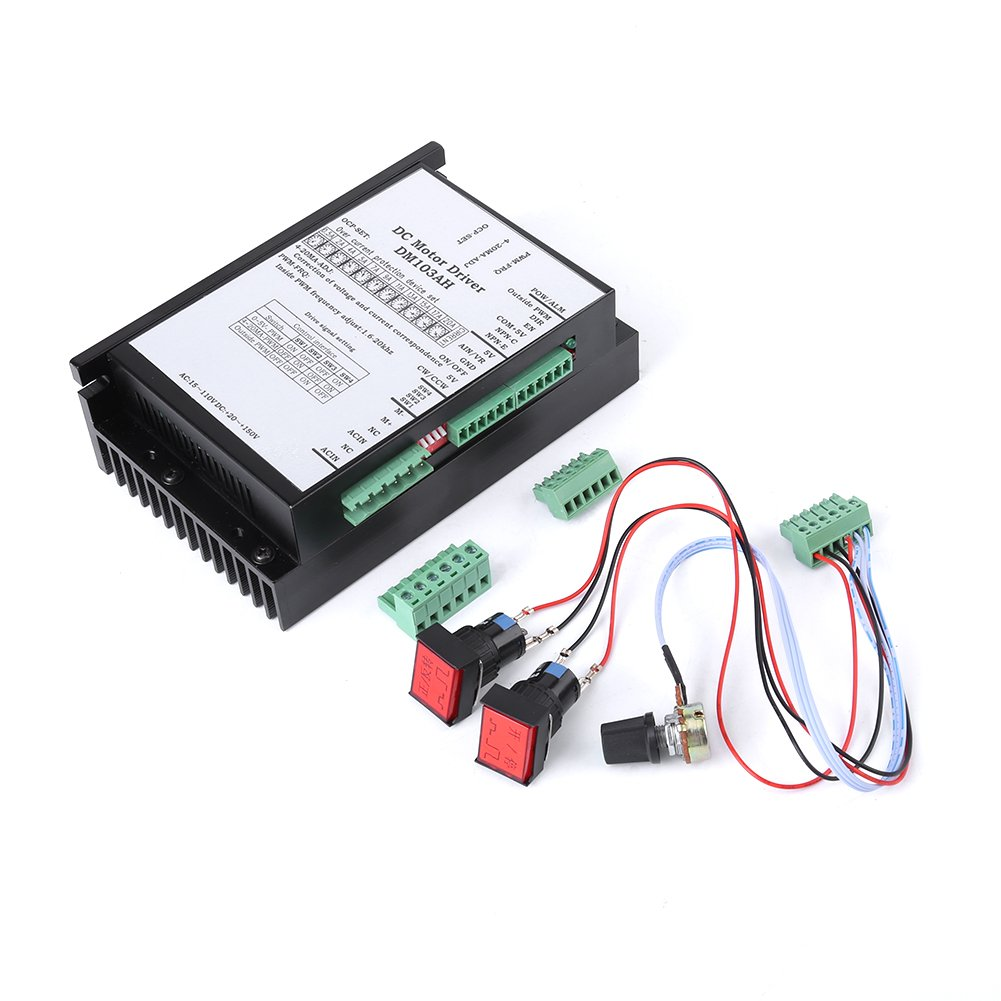 AC20-110V PWM Brushed DC Motor Speed Controller Adjustable Driver CW CCW Reversible Switch, Brush Motor, PLC Governor Motor Speed Controller Board Walfront