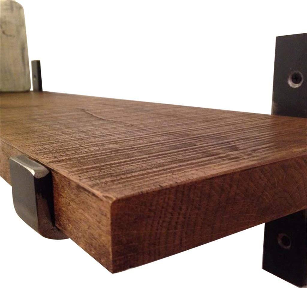 YCT ラック/本棚/吊り飾りフレームに使用される木製ボード鉄金属ブラケット付きキッチン壁掛け棚 - 安い、ディスカウント価格レトロビンテージロフトスタイル|ベクターイラスト| CLIPARTO厚さ (サイズ : L80*D20*H3cm) B07R8KHHSG  L80*D20*H3cm
