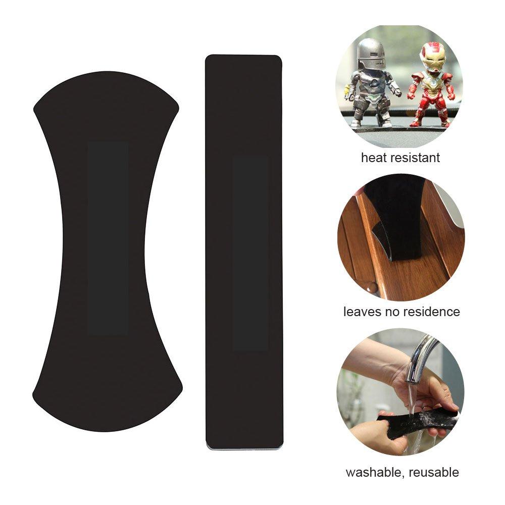 TopWill Fixate Gel Pads Kabel Bonus 1pcs Smartphone Finger Grip Holder Schwarz Schl/üssel Werkzeuge Multifunktionale Gel-Pads Anti-Rutsch-Pad Wiederverwendbare Waschbare 4pcs f/ür Telefone