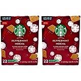 Starbucks Peppermint Mocha Coffee K Cups - 44 K Cups Total - 22 K Cups Per Box - Seasonal Limited Edition Starbucks Coffee -