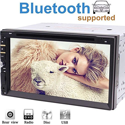Double DIN 7'' Inch Capacitive Touch Screen Car Stereo Radio Receiver DVD...