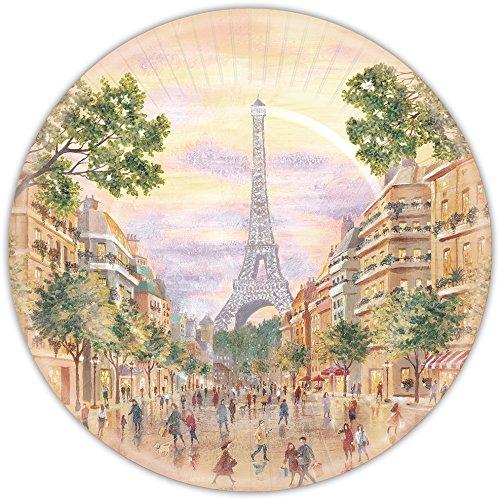 Punch Studio Paris Promenade Paper Plates, Large