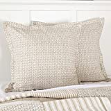 Piper Classics Wheat Field Printed Euro Sham w/Flange, 26'' x 26'', Farmhouse Bedding, Cream & Taupe