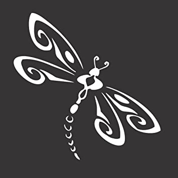 Amazoncom Dragonfly Die Cut Vinyl Window DecalSticker For Car - Vinyl window decals amazon