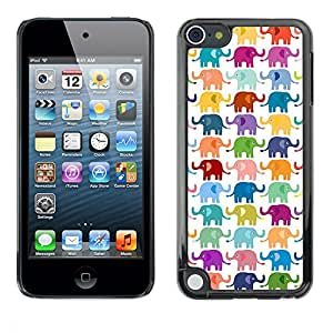 LASTONE PHONE CASE / Carcasa Funda Prima Delgada SLIM Casa Carcasa Funda Case Bandera Cover Armor Shell para Apple iPod Touch 5 / Cool White Colorful Kids Pattern