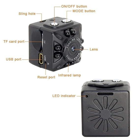 Anviker Mini Cámara Espía,Cámara HD 1080p y 720P HD,Cámara de Vídeo Pequeña Portátil con Detección de Movimiento y Visión Nocturna por Infrarrojos, Cámara de ...