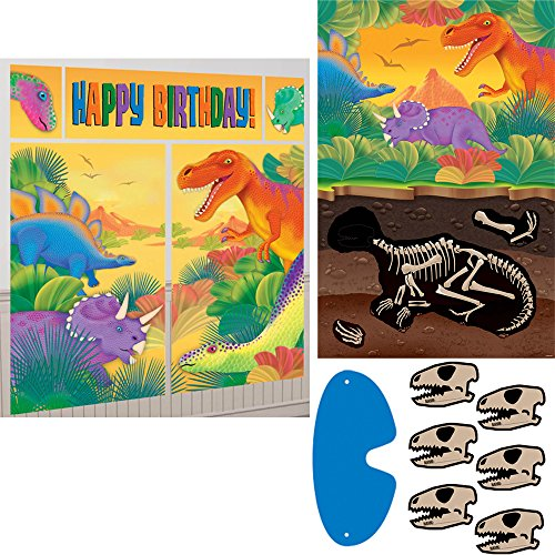 Prehistoric Dinosaurs Party Game and Scene Setter Party Decoration Bundle - Includes One Maze Game Activity Card by ClassicVariety -