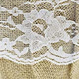 DGQ Burlap Flower Basket Vintage Retro Lace Bow