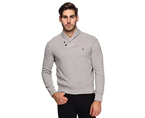 Polo Ralph Lauren Mens French Rib Shawl Neck Sweater at