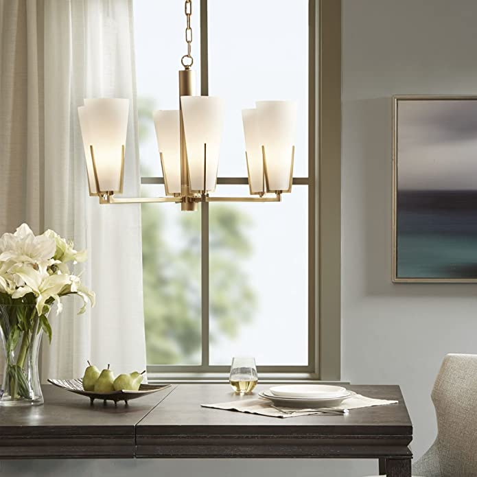 Chandelier-Color:White/Gold,Size:See below