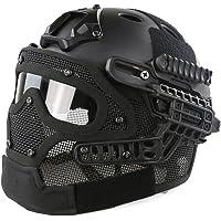 PJ casco táctico, yashaly G4sistema de malla máscara de cara completa con protección de anteojos para Fast MH para Airsoft y Paintball