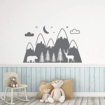 Montagnes Woodland Baby Nursery Sticker mural pour chambres ...