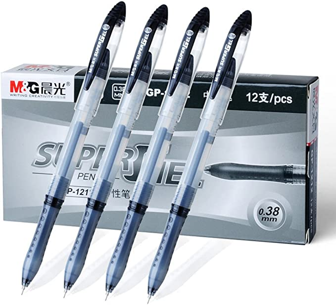 Business Pens Ultra Fine 0.38mm 0.38mm-Black Gel Ink Rollerball Pens Fengtaiyuan 038P18 Black Ink Writing Smooth