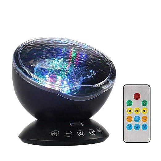Lámpara de proyector Luz nocturna Control remoto Lámpara de ...