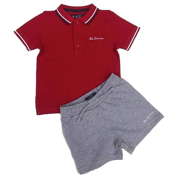 Ben Sherman de Niño Polo Camiseta y Pantalones Cortos Set Rojo 12m ...