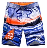 Tailor Pal Love Plus Size Bathing Suits for Men Straight-Leg Casual Cargo Water Shorts Breathable Quick Dry Surf Trunks, Dark Blue Size XL