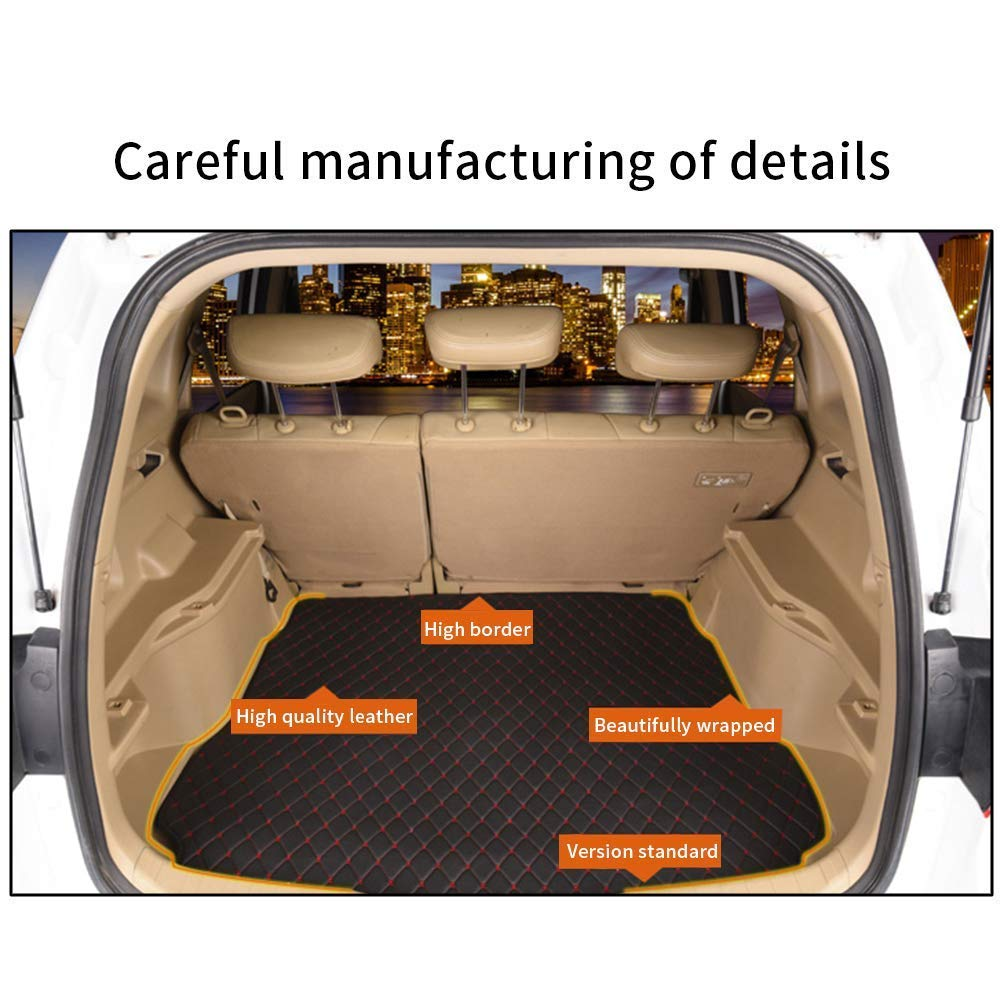 Car Trunk Mat Floor Mat Custom Made for 95/% of Car Models Floor coverage All Weather Trunk Protection Waterproof Cargo Mat Non-Slip Leather Liner Set Black
