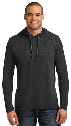 ea4fbefb6f3 Amazon.com  Anvil Lightweight Long-Sleeve Hooded T-Shirt (987AN) HTH ...