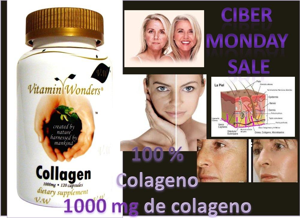 Amazon.com: Colageno Colageina Collagen 100% Colageno 120 Cap 1000mg Puro Colageno El MAS Fuerte Y Efectivo Colageina Totalmete Original De Collagen 150 ...