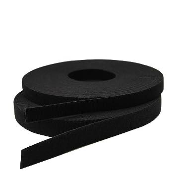 c68004a83fe Tris Hook And Loop Fastener Tape Rolls 25 Meters Black (1 Inch Width)   Amazon.in  Home   Kitchen